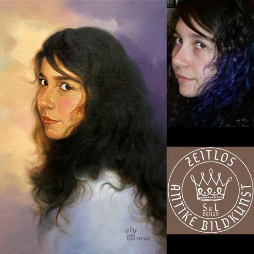 schwarzes-haar-malerei