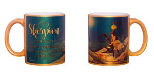 Motivtasse Skorpion gold