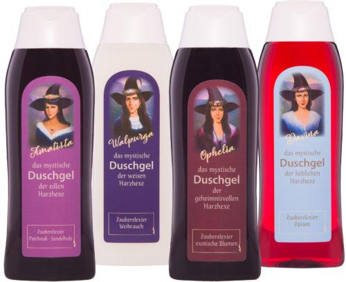 Duschgel Harz-Hexen-Serie