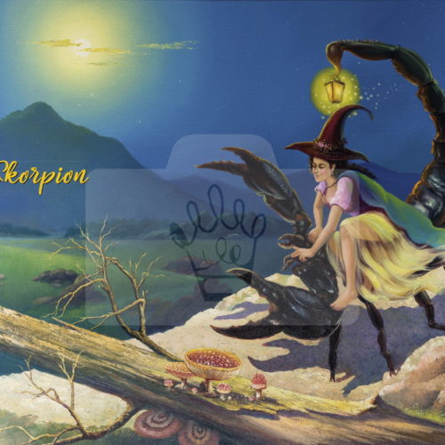 Motiv Skorpion mit Text  |  Bst.-Nr.: 006-022