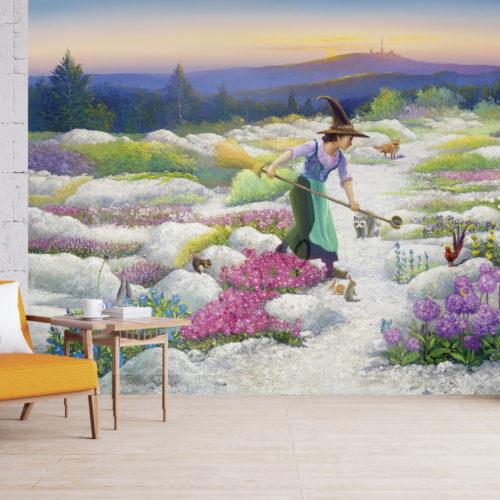 Harzhexe Farina, die Beschützerin der Blumen